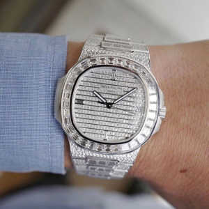 watch model: iced out patek philippe