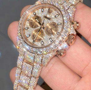 iced out watch rolex
